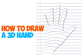 how to draw a 3d hand on notebook paper drawing trick for kids