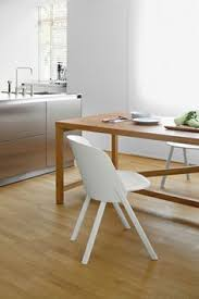 kitchen interior solid oak table platz by jörg scmann available in diffe heights side