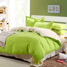 bedlinen colorful solid duvet covers queen lime green bed