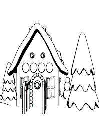 Kleurennu Huis In De Winter Kleurplaten