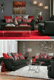 Love the pops of color,and the art work however the messed up rectangles  would. Red Living RoomsLiving Room ...