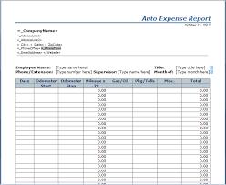 Mileage Tracker Sheet Auto Expense Report Template