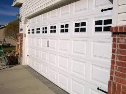white double door. Modern Garage Door Window Kits Home Design White Double