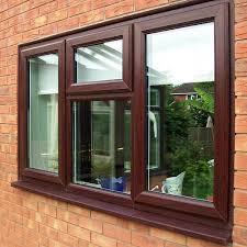 Wooden Finish Upvc Window