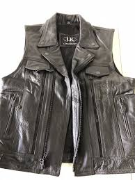 leather king med womens riding leather vest