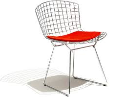bertoia wire chair. Bertoia Side Chair With Seat Cushion Wire N