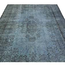k0029563 light blue over dyed turkish vintage rug 6 9 x 10 6 81 in x 126 in kilim com the source for authentic vintage rugs kilims
