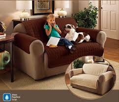 2 Seater Sofa Protector Chocolate Brown 46  x 70.5  Water ... & 2 Seater Sofa Protector Chocolate Brown 46