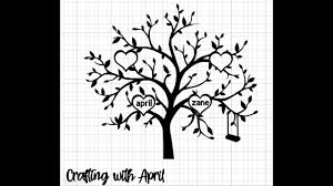 Check out our free svg files for cricut selection for the very best in unique or custom, handmade pieces from our art & collectibles shops. Crafting With April Creating A Family Tree For Vinyl Cut Out Youtube