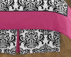 Hot Pink Black And White Isabella Girls Childrens And Teen Bedding