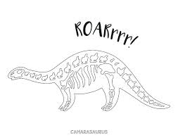 Dinosaur Bones Coloring Pages Dino Fossil Innovative Skeleton Page