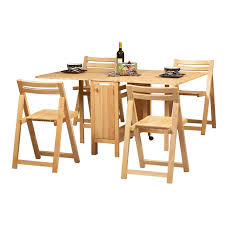 smart wooden folding furniture sets with a table and four chairs folding dining table and chairs