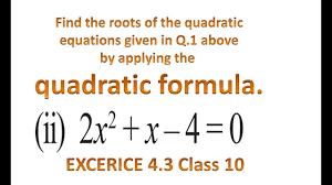 cbse class 10 maths ncert solution quadratic equations exercise 4 3 problem 2 part 2