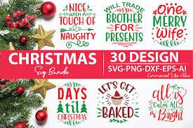 Naughty or nice family christmas game. Christmas Svg Bundle Bundle Creative Fabrica