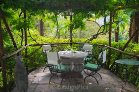 Seating on a restaurant patio locarno ticino switzerland stock image
