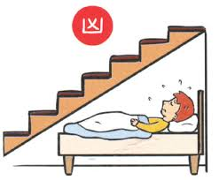 bed below staircase bedroom face kitchen bad feng shui