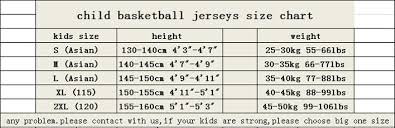 Kids Jersey Size Chart 2018 Kids Basketball Jersey Sets Uniforms Boys Youth Child Kits Sports Training Suit Shorts Reversible Quick Dry Jerseys Shirts