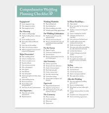 Wedding Coordinator Checklist 29 Wedding Checklist Templates Free For Word Excel Pdf