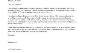 Cover Letter For Teacher Position Resume Badak Application Teaching