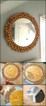 Diy mirror frame ideas Decorative Cute Mirror Framed By Wine Corks Homebnc 29 Best Diy Mirror Ideas And Designs For 2019