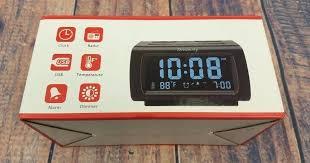 details about decent alarm clock radio port charging snooze temperature with usb ports canada alarm clock