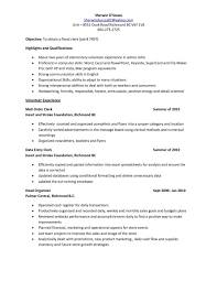 Office Clerk Resume Templates Assistant Samples Free Cash Examples