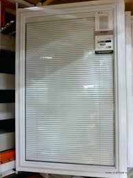 glass door inserts with blinds posts