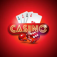 Casino illustration with shiny neon light letters and poker cards 346084  Vector Art at Vecteezy