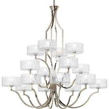 caress collection 16 light polished nickel chandelier