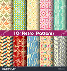 Pattern Collection Fascinating Retro Patterns Collection 48 Making Seamless Stock Vector Royalty