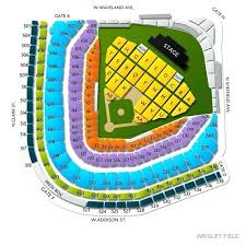 Billy Joel Wrigley Field Seating View For Section Row 6 Seat