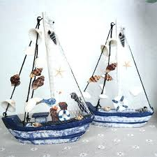 wood sail boat decor sailboat decoration wood boat craft style wooden ship model wedding wood sailboat