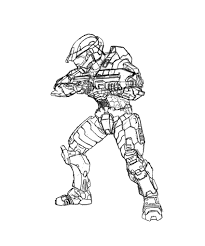 Halo Spartan Coloring Pages Printable Coloring Page For Kids