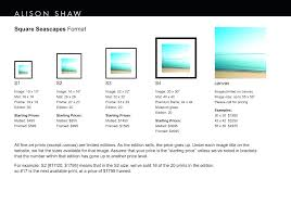 22 x 32 frame x frame square seascapes size chart inch poster