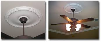 ceiling fan trim. if you have a ceiling fixture that would be difficult to remove then this type of fan trim