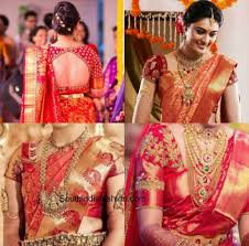 Usha Sridhar S Designer Sarees Chennai Give Your Red Kanjeevaram Saree A New Look With These Blouse