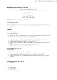 Clerical Resume Templates Wonderful Examples Clerical Resumes Administrative Clerk Resume Sample