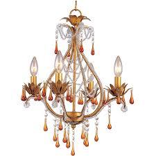 af lighting crystal teardrop elements mini chandelier 13 height clear glass com