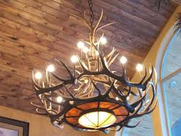 how to make an antler chandelier