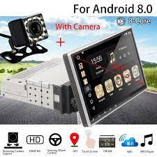 Máy Nghe Nhạc Đa Phương Tiện 10.1 1G + 16G cho Android8 Dàn Âm Thanh Xe Hơi  1DIN Bluetooth WIFI GPS Quad Core Đài Phát Thanh video MP5 Người Chơi Với  Camera