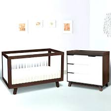two tone crib 2 piece nursery set 3 in 1 convertible and changer dresser espresso for two tone crib