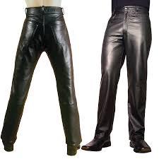 men s leather jeans