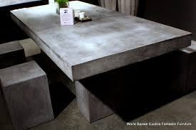 concrete coffee table for collection round concrete top dining table concrete outdoor furniture diy