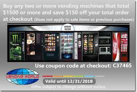 What Is The Code For Vending Machines Impressive Discount Coupons Vending World