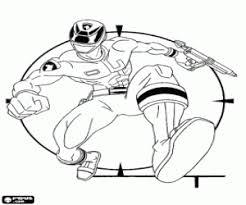 Kleurplaat Power Ranger Spd Met Zijn Wapen Kleurplaten