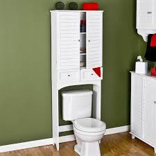 Image of: White Over The Toilet Cabinet With Walmart