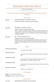 Web/Software Developer And Ux Designer Resume samples
