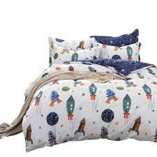 details about brandream boys galaxy space bedding set kids bedding set duvet cover full queen
