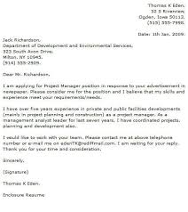 Management Cover Letter Project Manager Cover Letter Examples Cover Letter Now