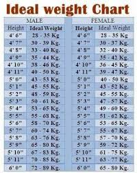 Ideal Weight Chart For Everyone Ideal Weight Health
